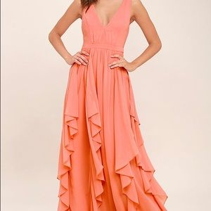 Simply sweet Coral Maxi dress